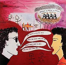 Signed 1986 Gordon From Art Sounds Portfolio Offset Lithograph