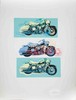 Signed 1993 Renbaum Harley x 3 Serigraph, Friedbert Renbaum, Click for value