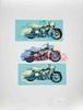Signed 1993 Renbaum Harley x 3 Serigraph, Friedbert Renbaum, Click for value