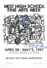 Signed 1997 Gronk West High School Fine Arts Week Offset Lithograph