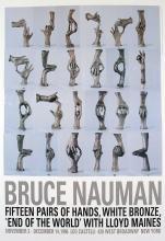 1996 Nauman Fifteen Pairs of Hands Poster