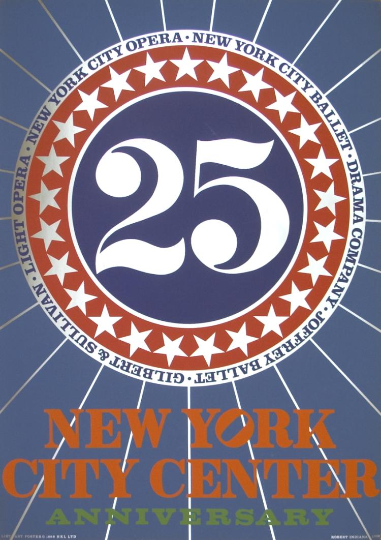 Robert Indiana - New York City Center - 1968