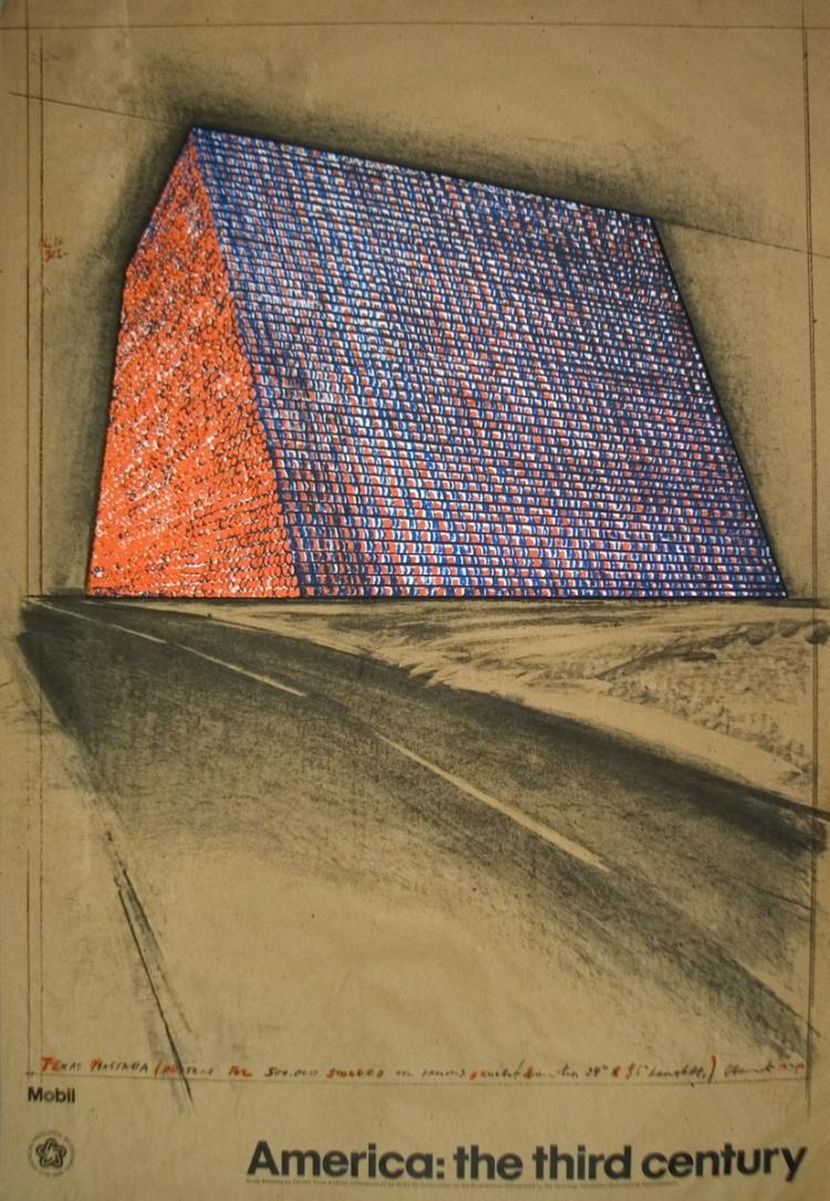 Javacheff Christo - Wrapped Oil Barrels, Texas - 1976