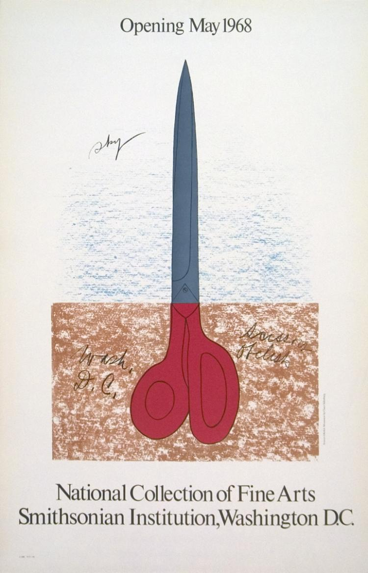Claes Oldenburg - Scissors as Monument - 1968