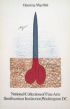 Claes Oldenburg - Scissors as Monument - 1968