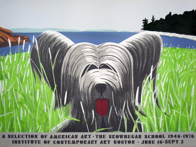 Alex Katz - Dog At Duck Trap - 1976