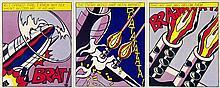 Roy Lichtenstein - As I Opened Fire (Triptych) - 1997