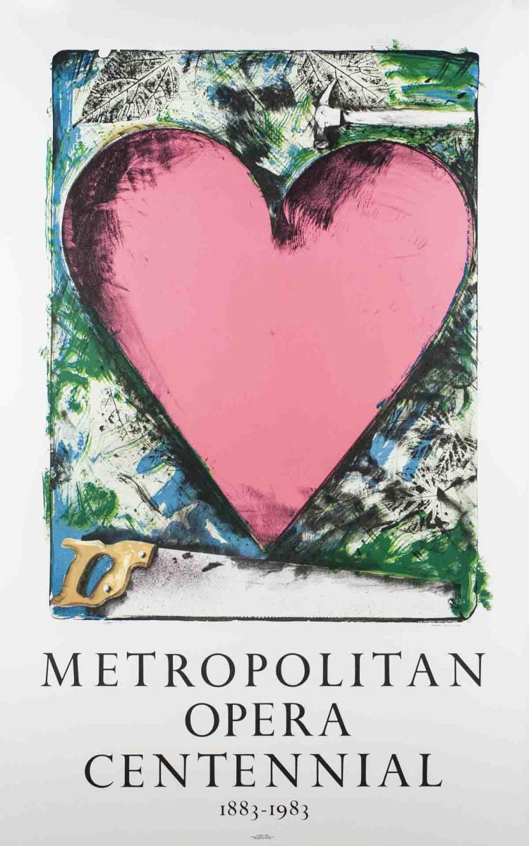 Jim Dine - Pink Heart - 1983