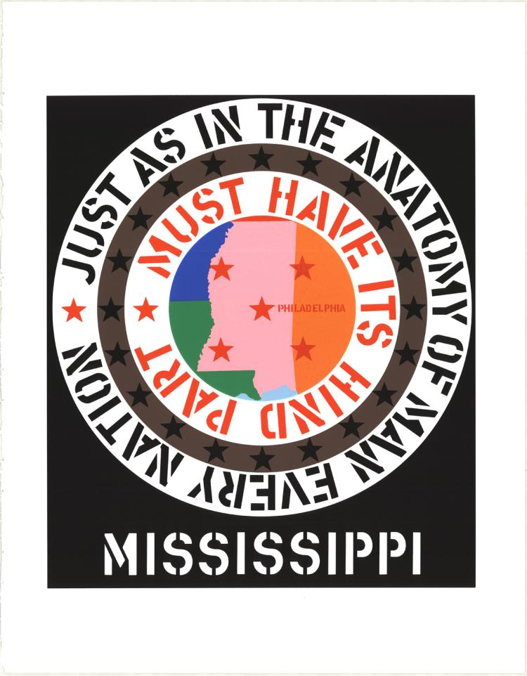Robert Indiana - Mississippi - 1997