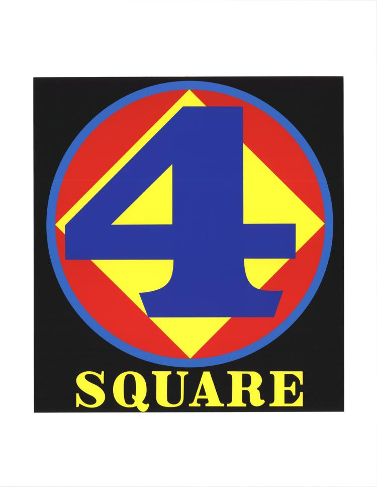 Robert Indiana - Polygon: Square (Four) - 1997