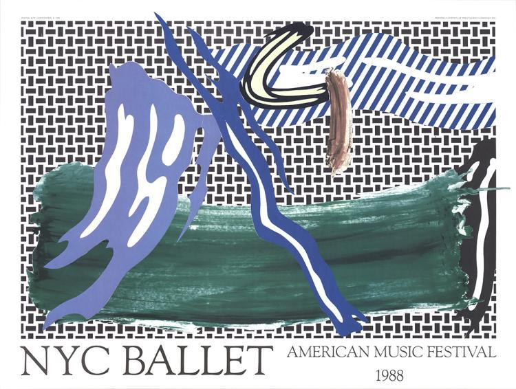 Roy Lichtenstein - NYC Ballet American Music Festival - 1988