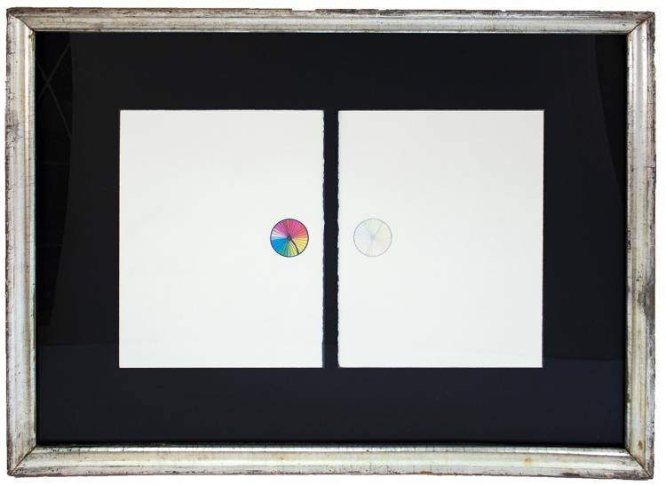 Robert Rauschenberg - Re-entry (Diptych) - 1975 - SIGNED
