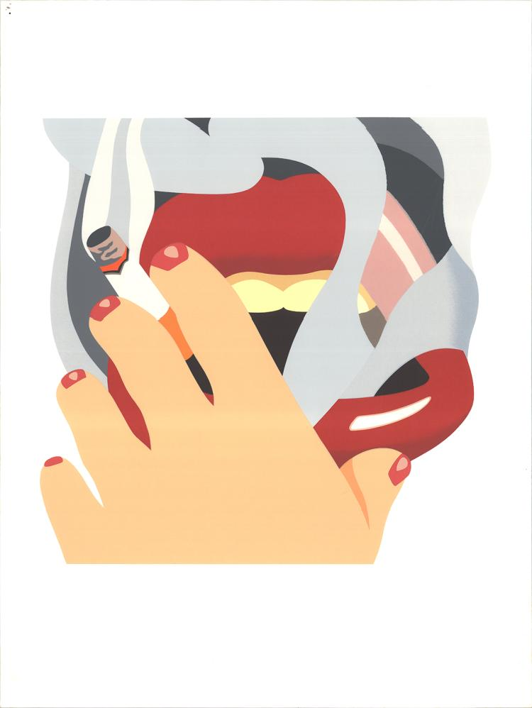 Tom Wesselmann - Smoker, from an American Portrait - 1976 - SIGNED
