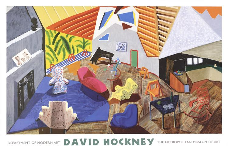 David Hockney - Large Interior, Los Angeles - 1999