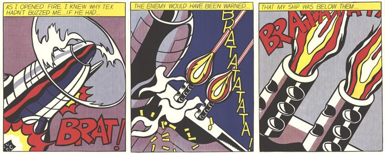 Roy Lichtenstein - As I Opened Fire (Triptych) - 1964