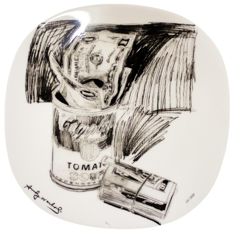 Andy Warhol - Campbell's Soup Can and Dollar Bills