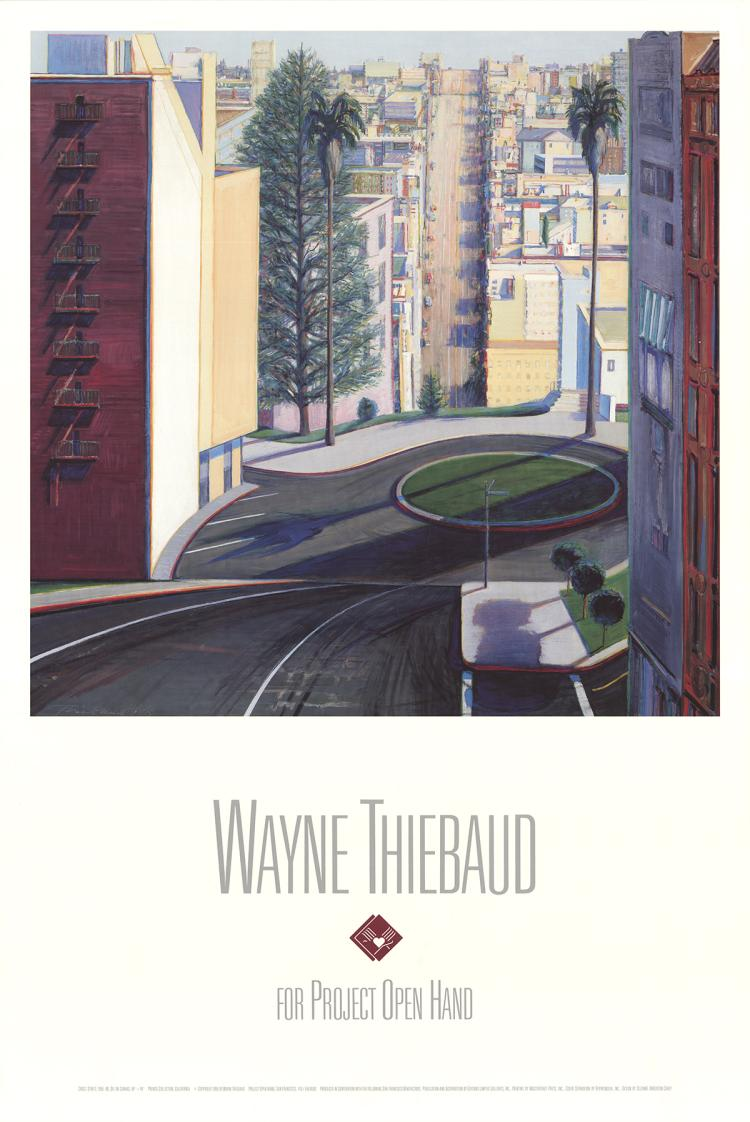Wayne Thiebaud - Circle Street - 1990
