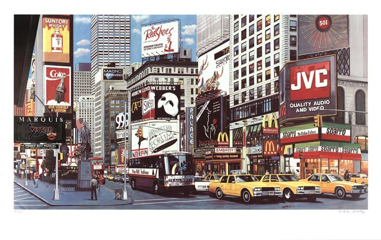 Ken Keeley - Times Square - 1996 - SIGNED