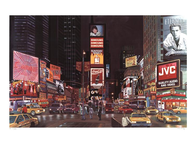 Ken Keeley - Times Square Night, New York - SIGNED