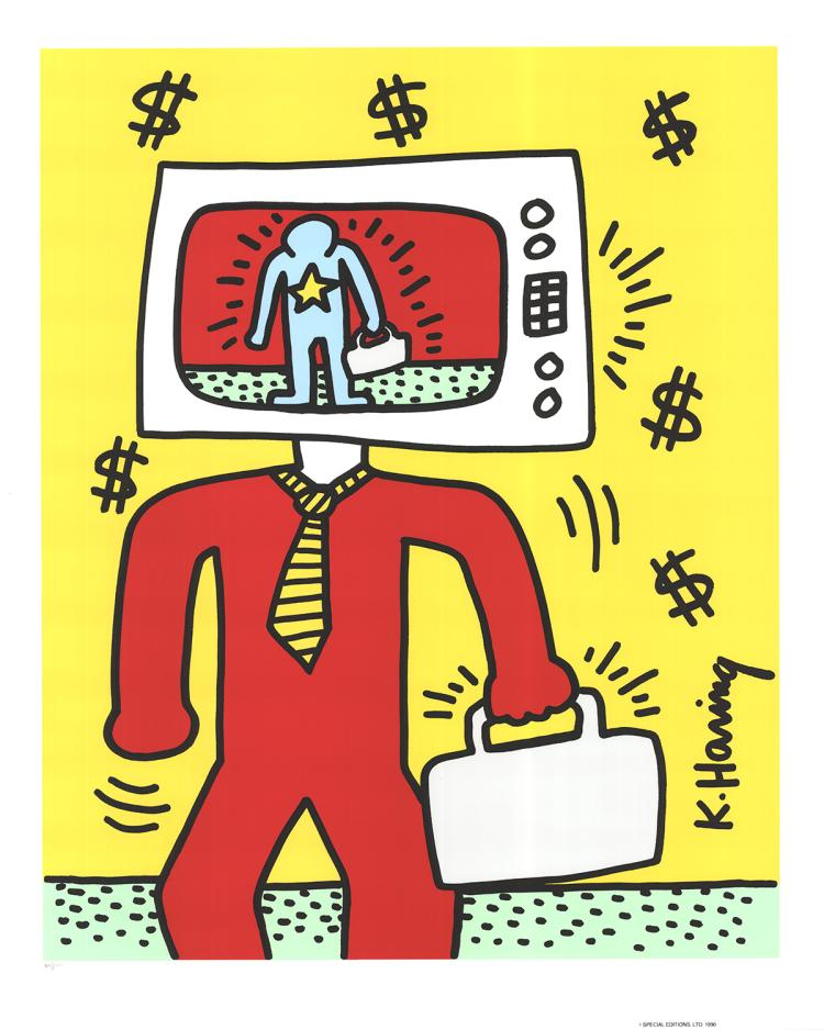 Keith Haring - TV Man - 1990