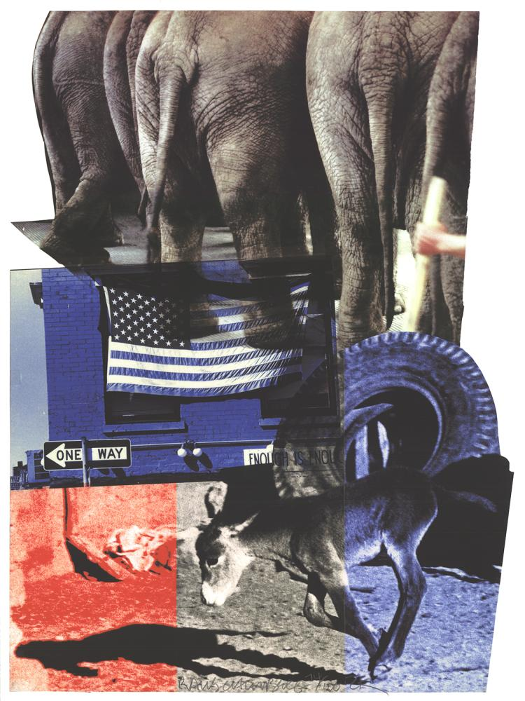Robert Rauschenberg - Hillary Rodham Clinton Campaign - 2000 - SIGNED