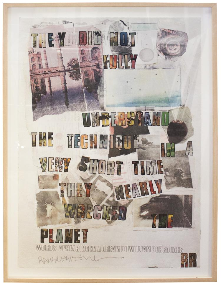 Robert Rauschenberg - Words Appearing in a Dream of William Burroughs - 1972 - SIGNED