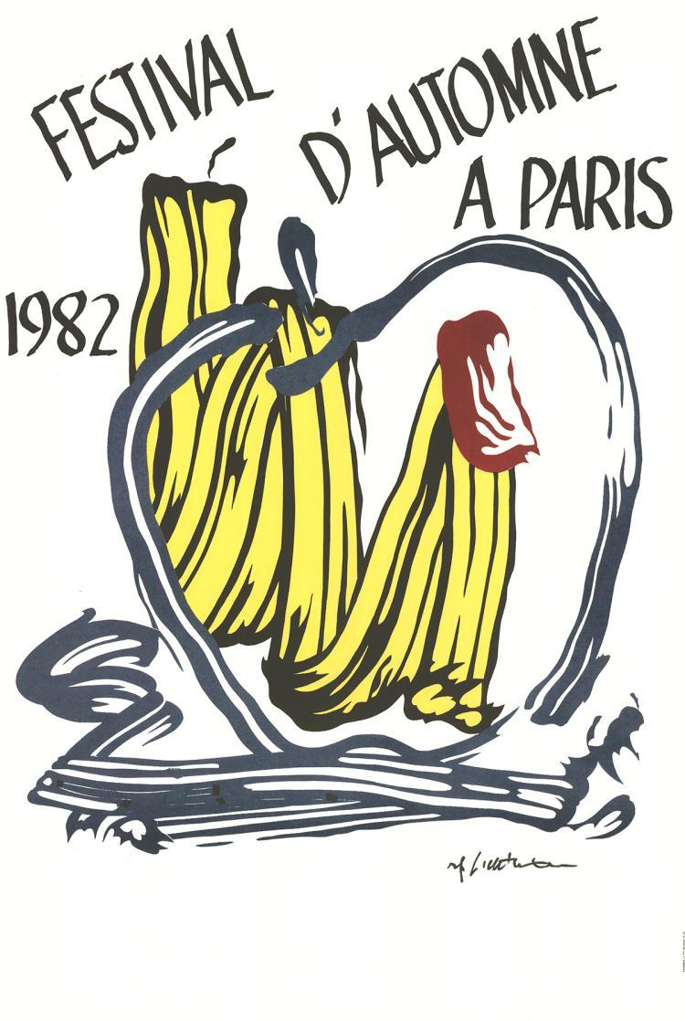 Roy Lichtenstein - Festival D'Automne A Paris - 1982