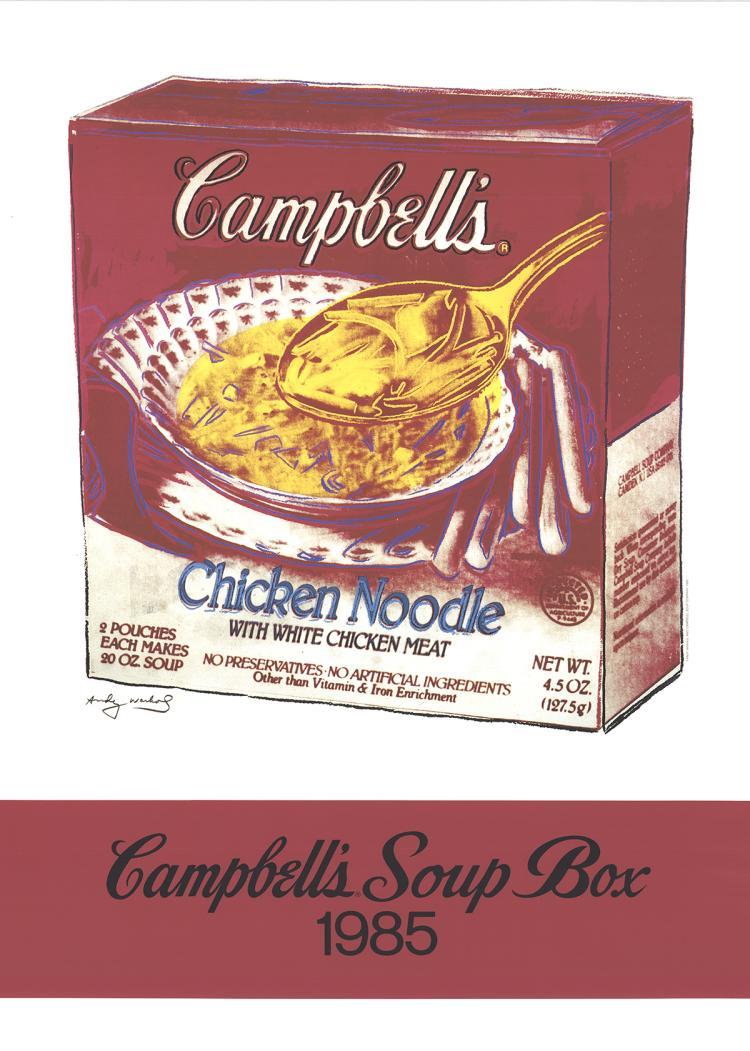 Andy Warhol - Campbells Soup Box