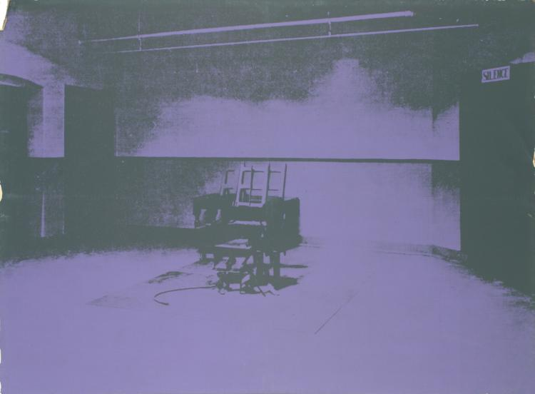 Andy Warhol - Electric Chair-Sunday B Morning - 1971