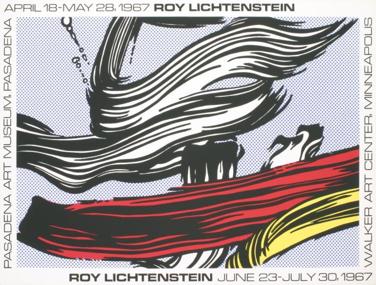 Roy Lichtenstein - Brushstrokes at Pasadena Art Museum - 1967