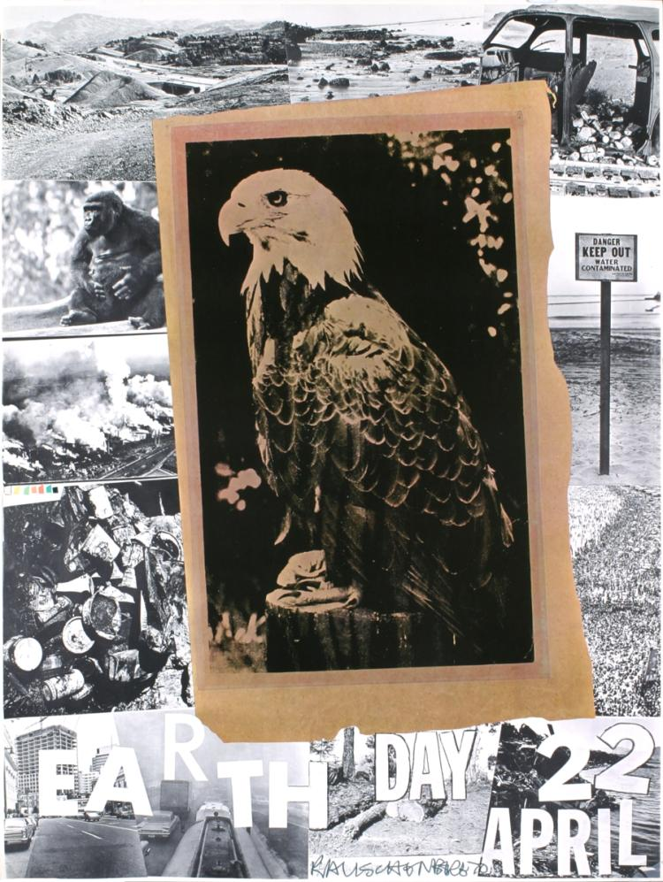 Robert Rauschenberg - Earth Day - 1970 - SIGNED