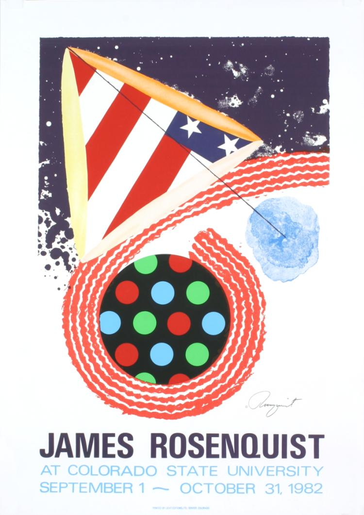 James Rosenquist - At Colorado State University - 1982