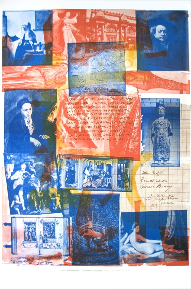 Robert Rauschenberg - 100 Years Treasury of the Conscience of Man (Centennial Certificate) - 1971