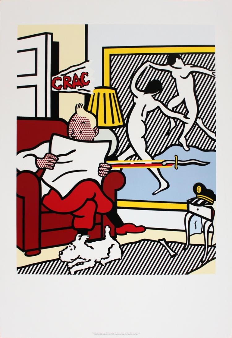 Roy Lichtenstein - Tintin Reading - 1995