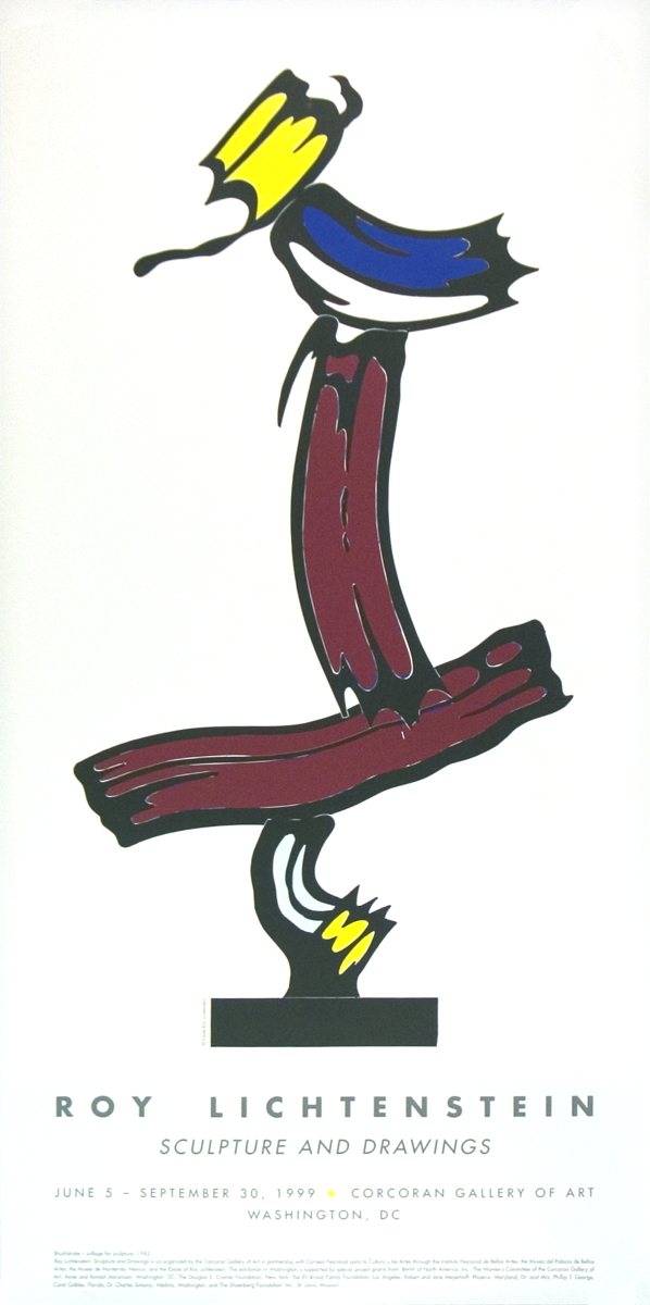 Roy Lichtenstein - Brushstroke-Collage For Sculpture - 1999