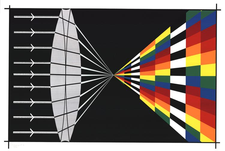 Allan D'Arcangelo - Refraction - 1976 - SIGNED