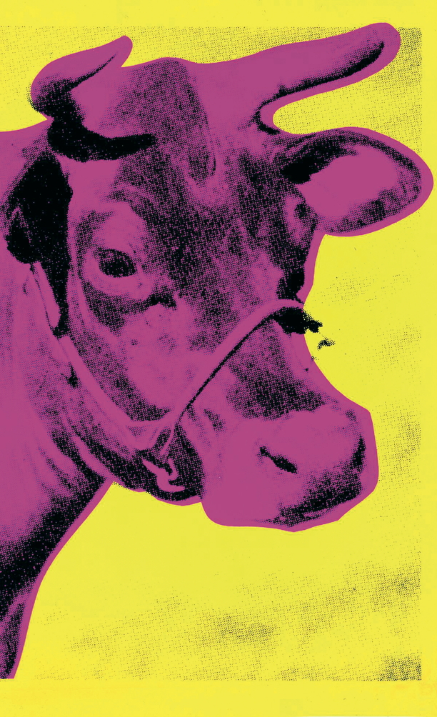 Andy Warhol - Cow Pink on yellow (Lg.) - 1989