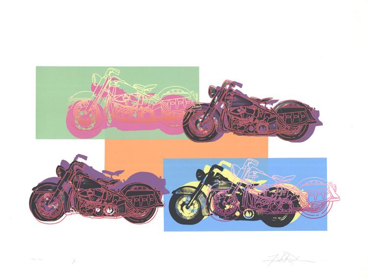 Friedbert Renbaum - Harley x 4 - 1994 - SIGNED