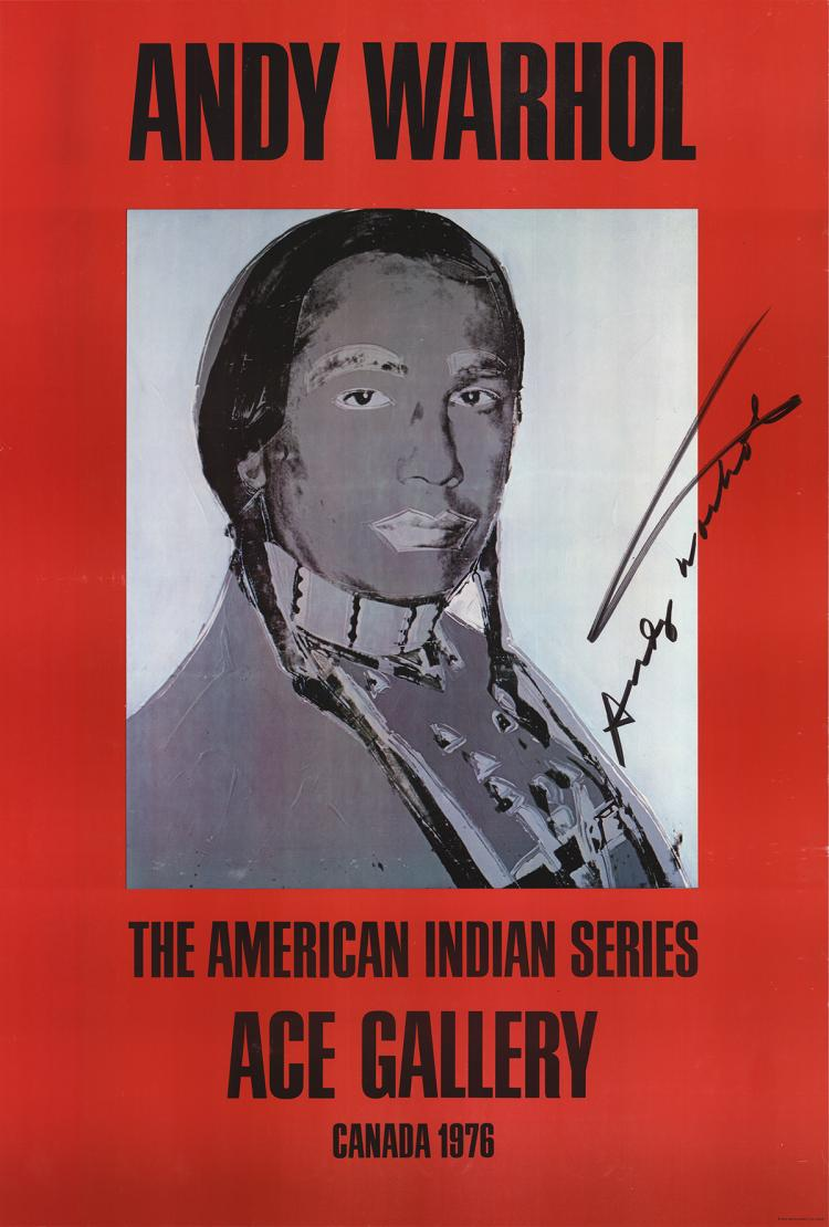 Andy Warhol - American Indian (Red) - 1977 - SIGNED