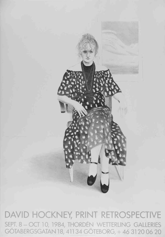 David Hockney - Celia, 8365 Melrose Avenue - 1984