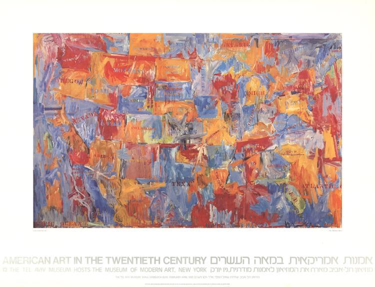 Jasper Johns - Map - 1980