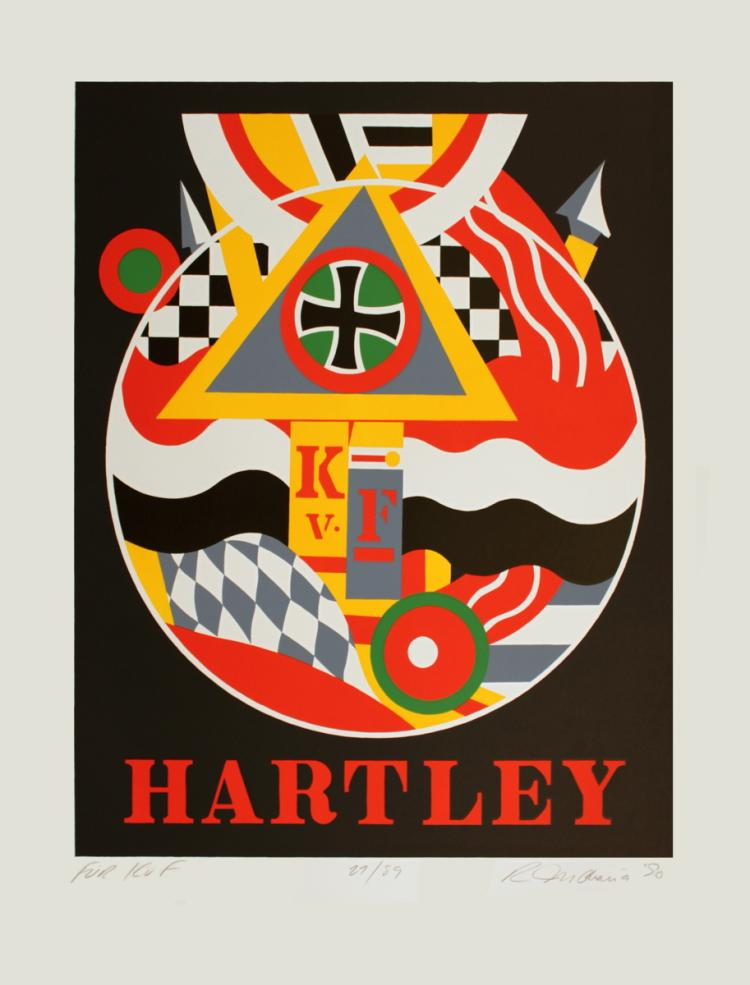 Robert Indiana - Fur K. v. F. (Hartley) - 1990 - SIGNED