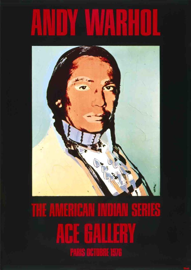 Andy Warhol - American Indian (Black) - 1976