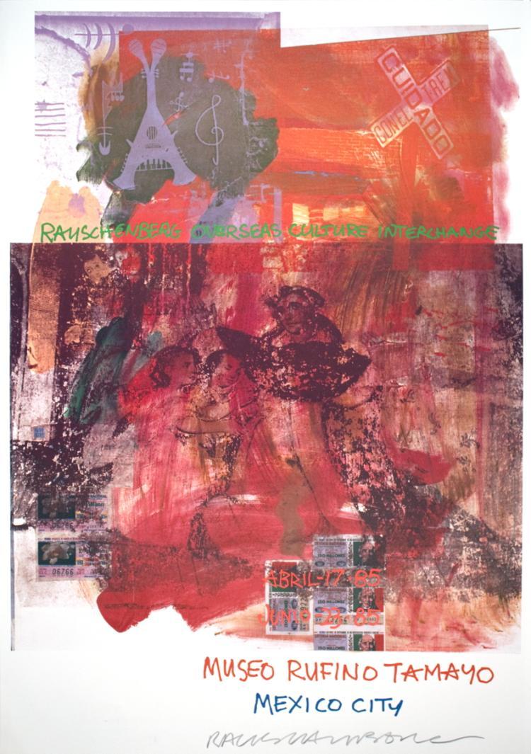 Robert Rauschenberg - ROCI: Mexico - 1985 - SIGNED