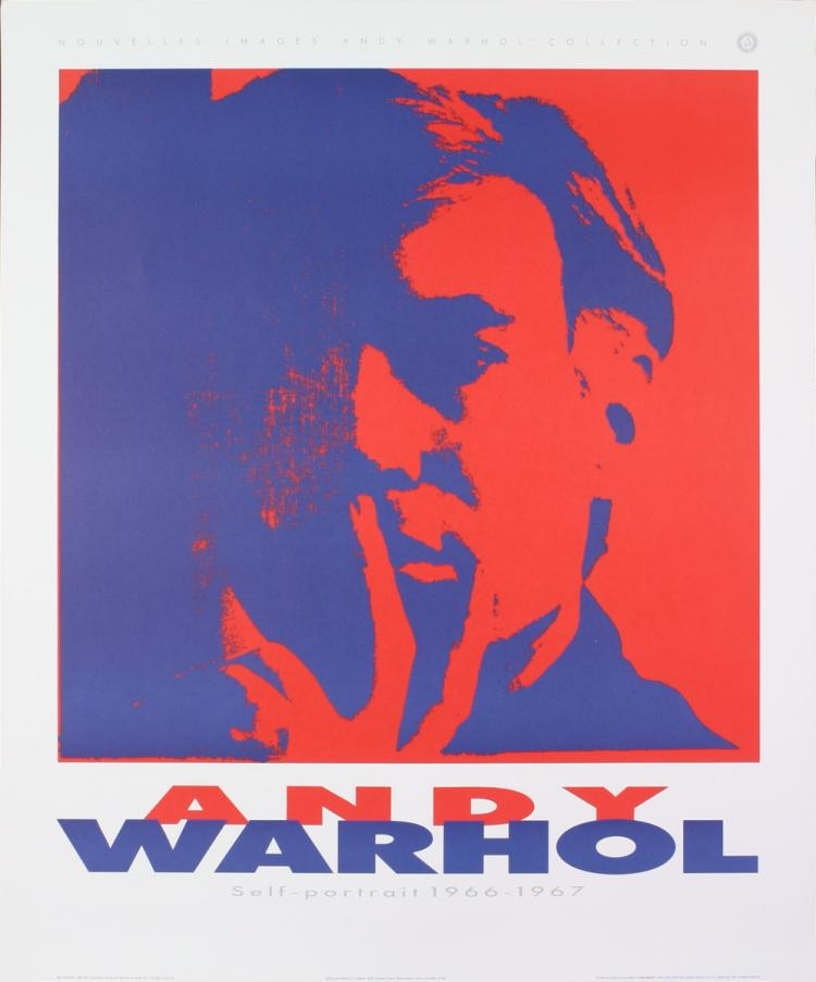 Andy Warhol - Self Portrait (Blue, Red) - 1989