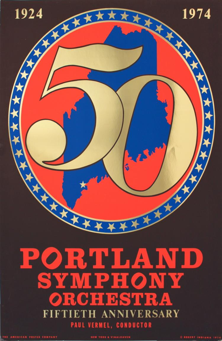 Robert Indiana - Portland Symphony Orchestra 50th Anniversary - 1974