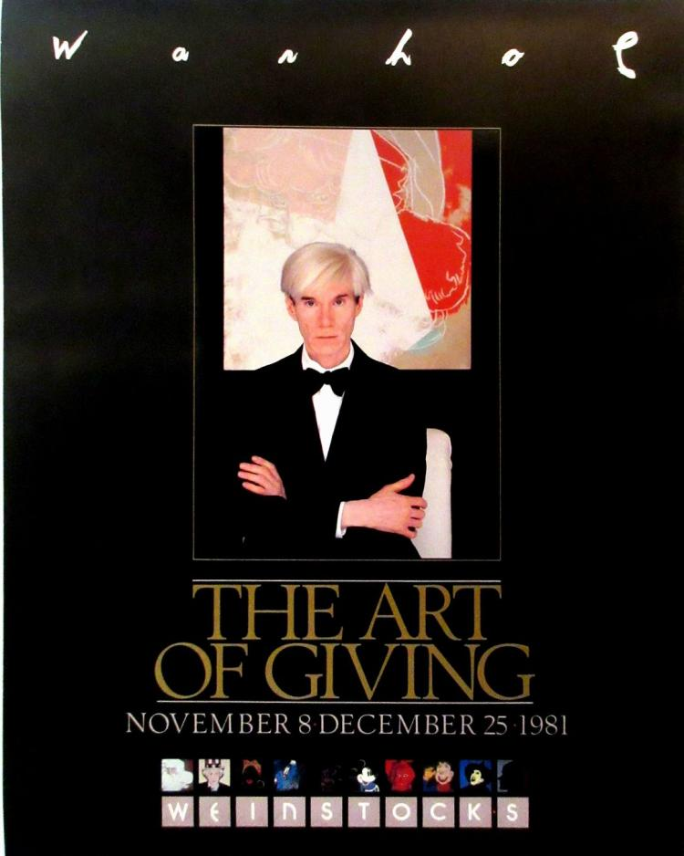 Andy Warhol - The Art of Giving - 1981 - SIGNED
