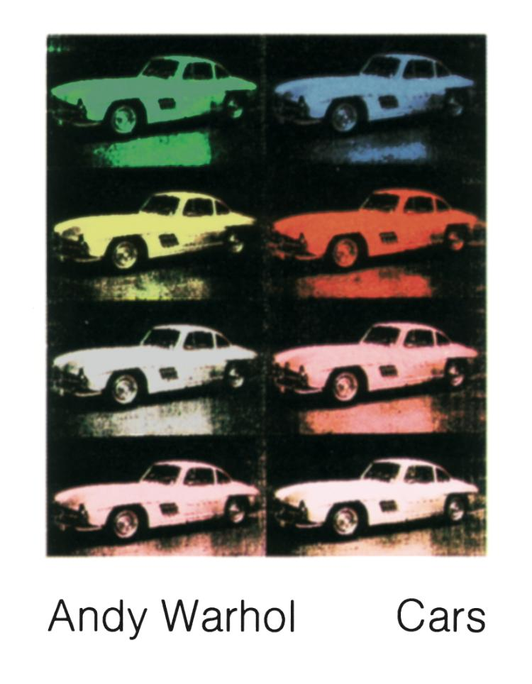 Andy Warhol - 300 SL Coupe (1954) (Collage) - 1989