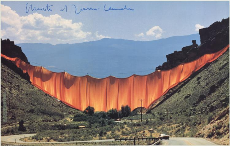 Javacheff Christo - The Valley Curtain - SIGNED