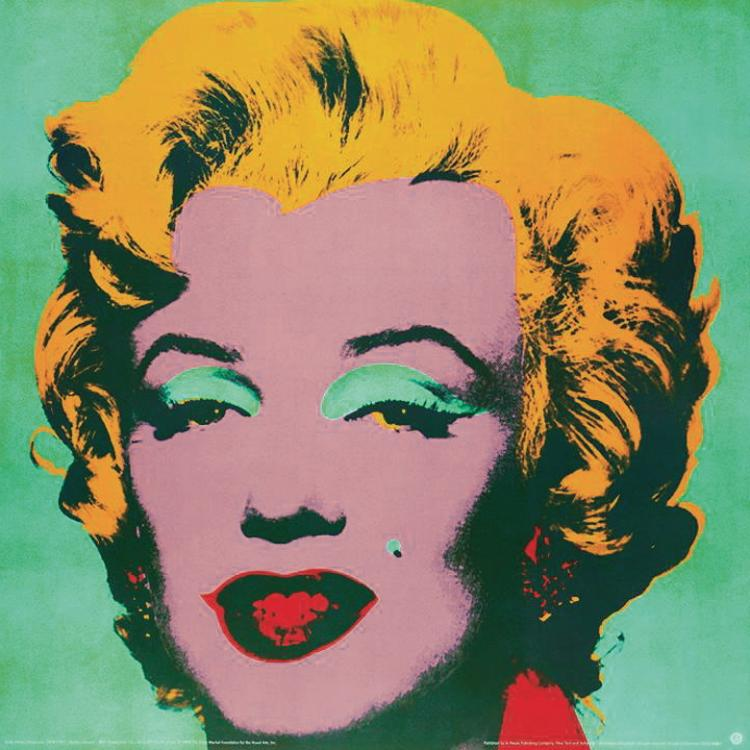 Andy Warhol - Marilyn Green #23 - 1989